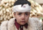 Earthquake survivor in Musafrabad