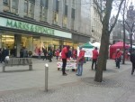 Members of Sheffield MSF Society collecting in Sheffield City Centre