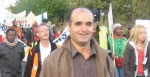 "Delshad on the *SYMAAG march for ""Dignity Not Detention"" October 2007, now incar"