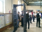 A stop-and-search operation at the East Ham tube station