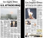 Los Angeles Times, 20 March 2003 and 20 March 2011