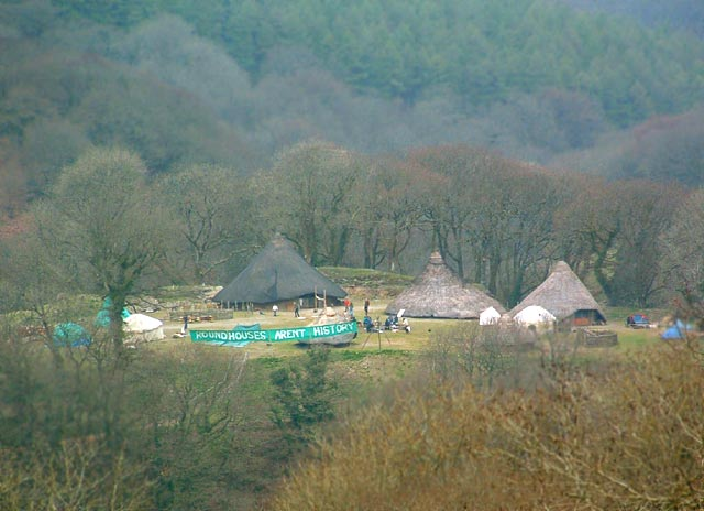 The occupied site at Castell Henllys provides a nice base for the weekend