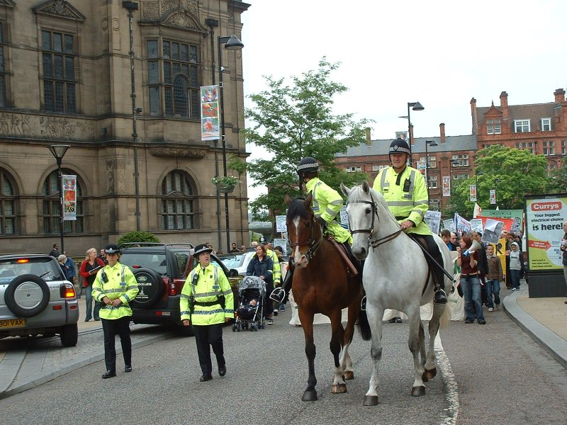 Marching past the Town Hall