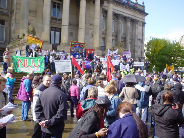 Rally in Bolton Town Centre