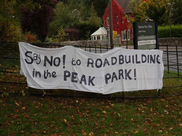 Say NO to road building in the Peak Park