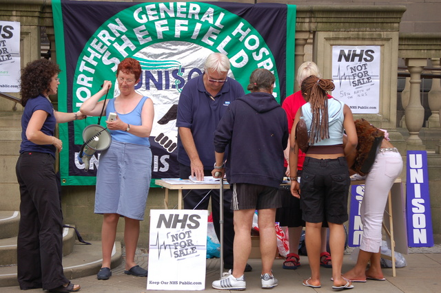 Save the NHS Stall