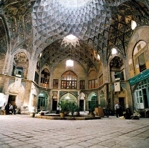 Kashan Bazaar in the province of Isfahan