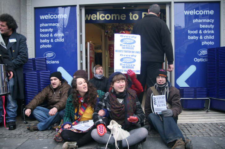 Outside Boots in Sheffield