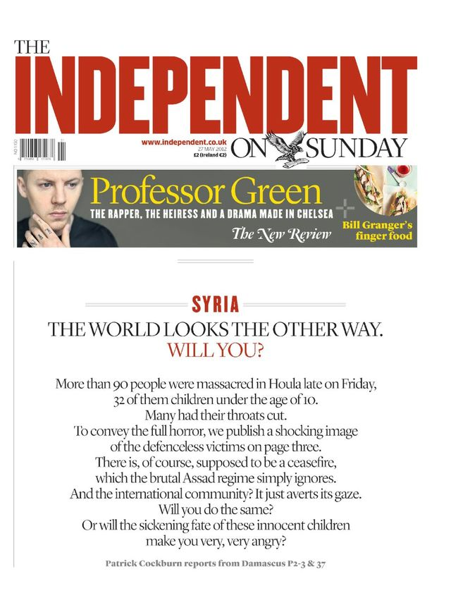 Independent on Sunday 27th May 2012
