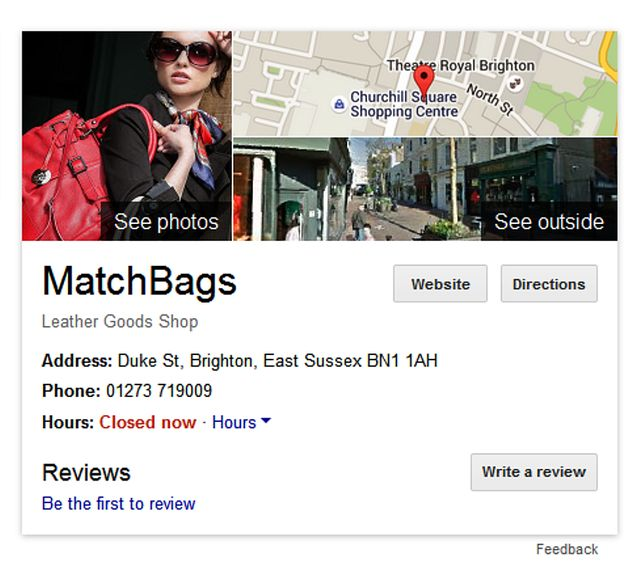 Match Bags Shop Location
