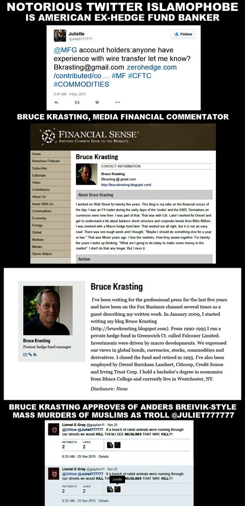 Bruce Krasting - Hedge Fund Banker is Horrific Racist Troll