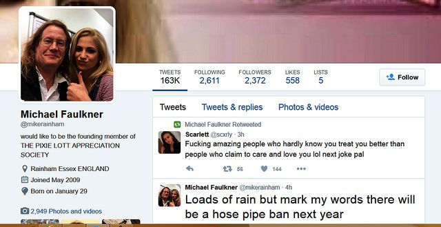 Unreformed neo-Nazi Mike Faulkner's Profile - Thousands Of Followers