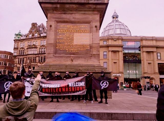 Nazis Encouring Kids To Salute In Newcastle