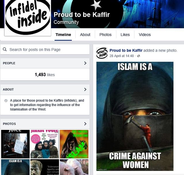 "Alderson Likes ""Proud To Be Kafir"" EDL Page"